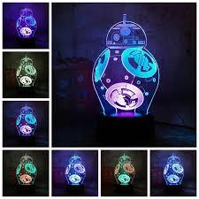 Online Shop <b>Star Wars</b> BB8 Lustre <b>3D LED</b> RGB 7 Mixed Dual Color ...