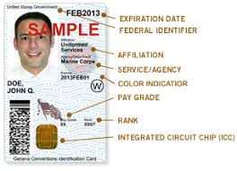 sample id cards common access card cac