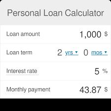 Personal Loan Calculator Omni