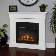 real flame 47 4 in w 4 780 btu white wood wall mount led electric fireplace