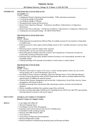 Microsoft Premier Field Engineer Sample Resume Premier Field Engineer Resume Samples Velvet Jobs 11