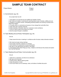 Project Contract Templates Exelent Team Contract Template Motif - Wordpress Themes Ideas ...