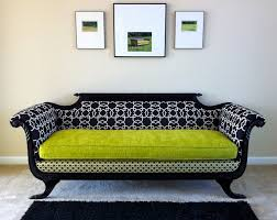... Full size of Black white geometric fabric backrest and arms victorian  loveseat furniture lime green modern