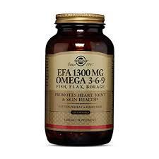<b>Solgar</b>, <b>EFA</b>, Omega 3-6-9, <b>1300 mg</b>, 120 Softgels: Amazon.in ...
