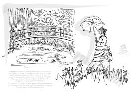 Small Picture Claude Monet Coloring Sheets Art hand outs Pinterest Claude