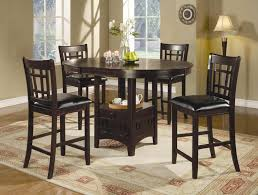 casual bistro design with counter height kitchen tables in the most amazing round bar height dining table set intended for your house