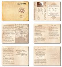 invitation t wedding invitation passport printable template vintage passport 6