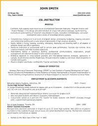 Cv Primary School Teacher Esl English Teacher Resume Sample Of For And Writing Best Teaching
