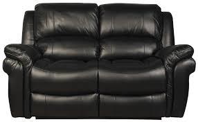 farnham black 2 seater leather sofa