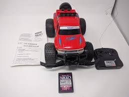 vine nikko aggressor rc car outrider 1 17 w battery remote manual ebay