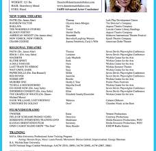 Acting Resume Example How To Write Theatre Sample Experience ...