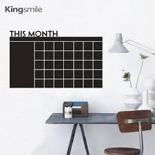 Maandelijkse Krijtbord Kalender Muurstickers Decals Blackboard Vinyl