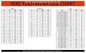 Nike Slippers Size Chart Nike Shoes Youth Size Chart Eastside Records Co Uk