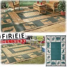 rv patio mat reversible area rug trailer outdoor camping accessories carpet