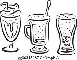 iced coffee clipart black and white.  White Glass Of Coffee For Iced Coffee Clipart Black And White L