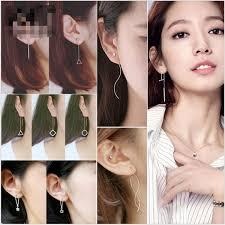 2019 Mix Korean Fringe <b>Asymmetric</b> Ear Wire Star Triangle ...