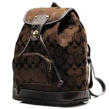 Top Quality Coach Classic In Signature Medium Coffee Backpacks FK8017