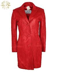 90s gianni versace cherry red leather lace coat s