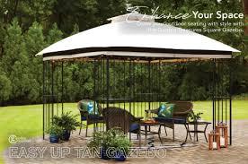 garden treasures gt easy up tan gazebo