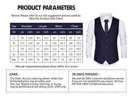 Wannew Mens Suit Vest Tuxedo Vest For Men With Bow Tie Sets X Large N67 Navy