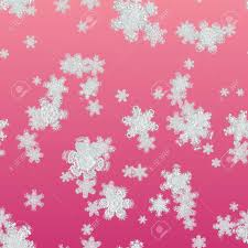 Seamless Texture Snowflake On Red Background Big Snowflake Texture