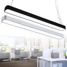 rectangular pendant lighting. Modern Office Lighting Pendant Lights Minimalist Rounded Border Led Rectangular Aluminum Narrow Strip Lamp