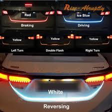 Car Turn Signal Lights Details About 12v Car Flow Type Led Strip Tailgate Turning Signal Lights Bar Trunk Strips Lamp
