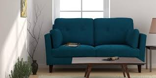 peacock blue furniture. Liliana Three Seater Sofa In Peacock Blue Colour By CasaCraft Furniture