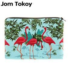 Jom Tokoy <b>Flamingos 3D Printing</b> simple makeup bag neceser ...