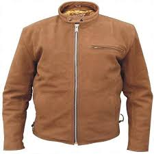 add to my lists allstate mens sporty tan brown suede leather cruiser motorcycle jacket