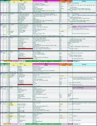 Holiday Planner Template Blank Itinerary Template Free Excel Spreadsheet Templates