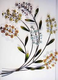 wonderful metal wall art flowers uk