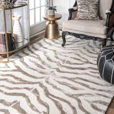 nuLOOM New Zealand Faux/Silk Zebra Rug (5' x 8' ) - Free Shipping Today -  Overstock.com - 12952288