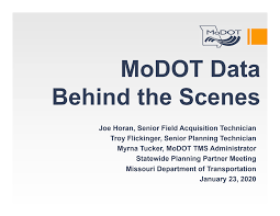 MoDOT Data Behind the Scenes