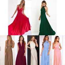 Sexy <b>Women Fashion Maxi</b> Red Beach <b>Long</b> Multiway Bridesmaids ...