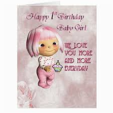 Babygirl Cards First Birthday Card Messages For Baby Girl First Birthday