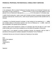 Sample Proposal Letter For Consultancy Services 5 Financial Proposal Templates Proposal Templates Pro
