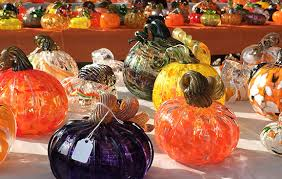 one of a kind hand blown glass pumpkins and gourds will be on during the 13th annual school for american crafts glass pumpkin patch fundraiser sept