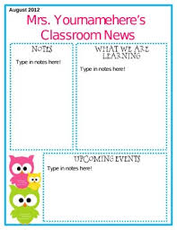 Free Teacher Newsletter Templates Editable Owl Themed Newsletter By Middle Grades Maven Tpt