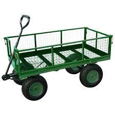 green metal garden wagon heavy duty metal gardening trolley green trailer cart garden of eden maui green metal garden wagon