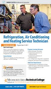 refrigeration air conditioning and heating service tech diploma detailed program information