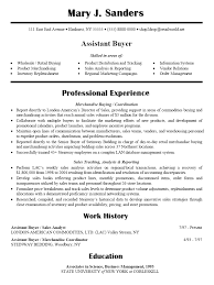 buyer resume examples