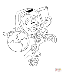 Astronaut Taking a Selfie coloring page | Free Printable Coloring ...