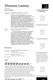 Respiratory Therapist Resume Amazing 18 Respiratory Therapist Resume Samples VisualCV Resume Samples Database