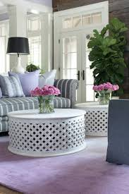 Circular Coffee Table White Living Room Without Modern Round D