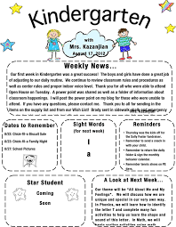Free Teacher Newsletter Templates Kindergarten Newsletter Template Template Free Download Speedy