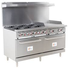 Gas Kitchen Ranges Cooking Performance Group S60 G24 N Natural Gas 6 Burner 60 Range