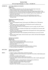 resume order of jobs order management resume samples velvet jobs