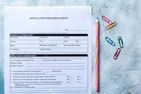 Standard Application For Employment Hr Hiring Applying Concept