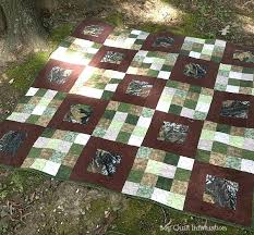 My Quilt Infatuation: For Love of The Great Outdoors & I went with solid Mossy Oak camouflage on the back, so that this quilt  could be flipped over and really used while hunting for a little extra  warmth. Adamdwight.com